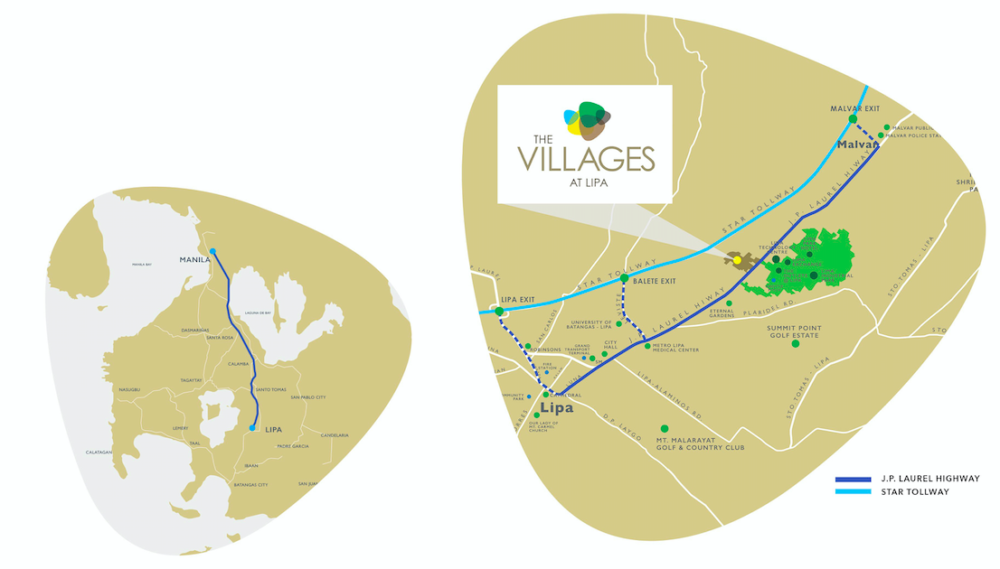 The Villages at Lipa vicinity map